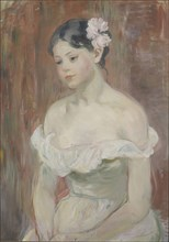 Girl with decollete (The Flower in Hair). Artist: Morisot, Berthe (1841-1895)