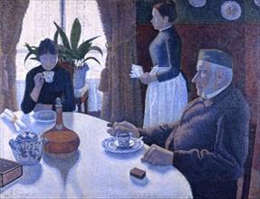 Breakfast. Artist: Signac, Paul (1863-1935)