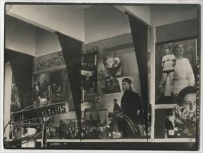Interior of the Soviet pavilion at the International Press Exhibition, Cologne. Artist: Lissitzky, El (1890-1941)