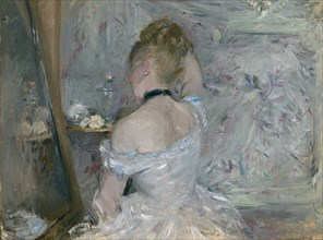 Woman at Her Toilette, 1875-1880. Artist: Morisot, Berthe (1841-1895)
