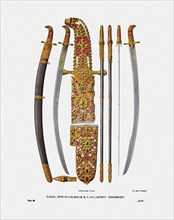 The sabre of Grand Prince Vladimir II Monomakh of Kiev, 1840s. Artist: Solntsev, Fyodor Grigoryevich (1801-1892)