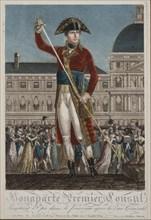 Napoleon Bonaparte as First Consul. Artist: Chataignier, Alexis (1772-1817)
