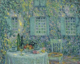 The Table. The Sun on the Leaves, Gerberoy, 1917. Artist: Le Sidaner, Henri (1862-1939)