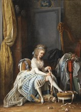 Woman at Her Toilette. Artist: Lafrensen, Niclas (1737-1807)