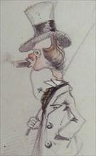 Dandy with a Cigar (Dandy au Cigare), ca 1857. Artist: Monet, Claude (1840-1926)