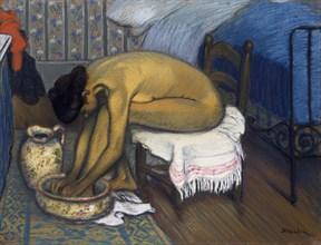 Le bain, 1902. Artist: Steinlen, Théophile Alexandre (1859-1923)