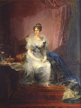Portrait of Marie-Louise of Austria (1791-1847), Duchess of Parma, 1837-1839. Artist: Borghesi, Giovan Battista (1790-1846)