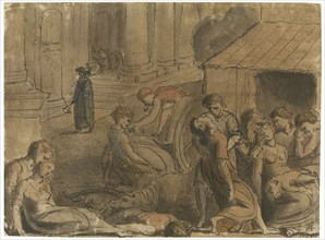 Great Plague of London, c. 1779. Artist: Blake, William (1757-1827)