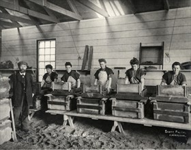 Dynamite mixing, Ardrossan, 1897. Artist: Anonymous