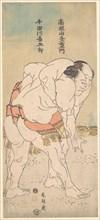 The Sumo Wrestlers Takaneyama Yoichiemon and Sendagawa Kichigoro.