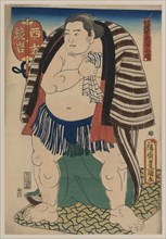 The sumo wrestler Kagamiiwa of the West Side.
