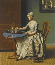 A Dutch Girl At Breakfast.