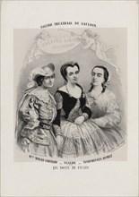 Caroline Miolan-Carvalho, Delphine Ugalde and Caroline Duprez in Le Nozze di Figaro by Wolfgang Am