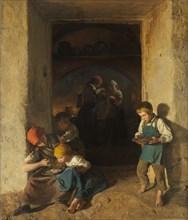 Children Receiving their Breakfast, 1859.