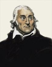 Portrait of the opera librettist and poet Lorenzo Da Ponte (1749-1838), .