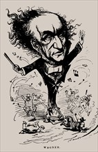 Richard Wagner as Conductor. Caricature in the Figaro, 1876.