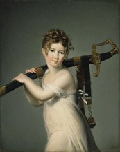 A Young Girl Carrying Her Father's Sabre, c. 1800.