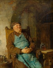 Brew master smoking a cigar, 1882.