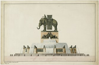 Project of the Elephant Fountain at the Place de la Bastille, ca 1809-1819.