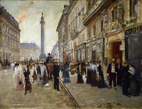 Workers leaving the Maison Paquin, in the Rue de La Paix, c. 1912.