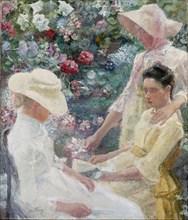 Trio fleuri, 1885.