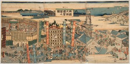Kokugikan in East Edo, 1853.