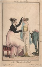 Preparations for the ball: Etruscan Hairstyle, Greek Costume, 1801.