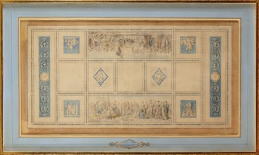 Study for the Painted ceiling of the library in the Conservatory, 1812.