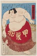 Sumo wrestler Kaidyo Taro, at the age of 15, 1887.
