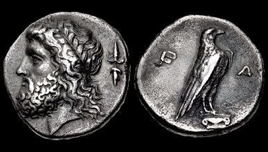 The 107th Olympiad. Obverse: Head of Zeus, Reverse: Eagle. Elis, Olympia, 352 BC.
