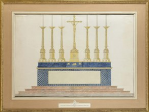 The high altar for the marriage of Napoleon I and Marie-Louise of Austria, ca 1805-1809.