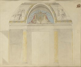 Study for the decoration of the throne at the Palais des Tuileries, 1806.