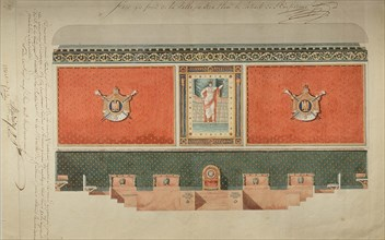 Decoration project for the Grand Chamber of the Court of Cassation, 1809.