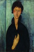 Woman with blue eyes Augen (Femme aux yeux bleus), c. 1918.