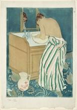 A Woman bathing, 1890-1891.
