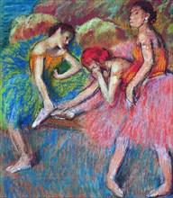 Danseuses au repos , c. 1898.