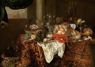 Banquet Still Life. Creator: Beijeren, Abraham Hendricksz, van (1620/21-1690).