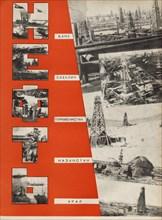 Petroleum. Illustration from USSR Builds Socialism, 1933. Creator: Lissitzky, El (1890-1941).