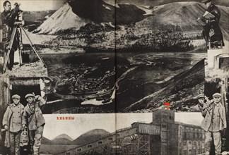 Khibiny. Illustration from USSR Builds Socialism, 1933. Creator: Lissitzky, El (1890-1941).