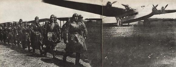 ANT-14 of Andrei Tupolev. Illustration from USSR Builds Socialism, 1933. Creator: Lissitzky, El (1890-1941).