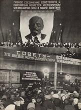 Soviets - the highest form of democracy. Illustration from USSR Builds Socialism, 1933. Creator: Lissitzky, El (1890-1941).