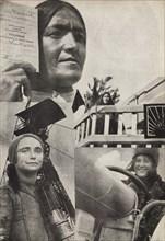 Soviet woman. Illustration from USSR Builds Socialism, 1933. Creator: Lissitzky, El (1890-1941).
