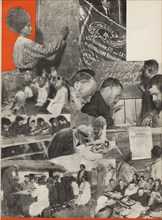 The fight against illiteracy. Illustration from USSR Builds Socialism, 1933. Creator: Lissitzky, El (1890-1941).