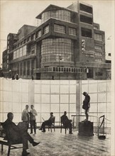 The Zuyev Workers' Club in Moscow. Illustration from USSR Builds Socialism, 1933. Creator: Lissitzky, El (1890-1941).