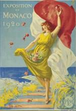 Cappiello, affiche pour l'Exposition de Monaco