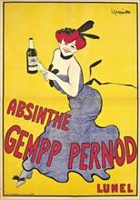 Cappiello, affiche pour l'absinthe Gempp-Pernod, 1903