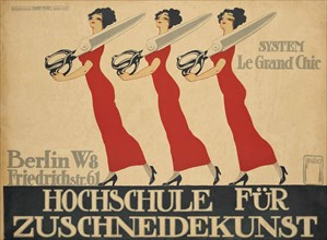 Hochschule für Zuschneidekunst (College for Cutting Art), 1911.