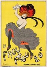 """Cappiello, affiche pour le journal """"Frou-Frou"""", 1899"""