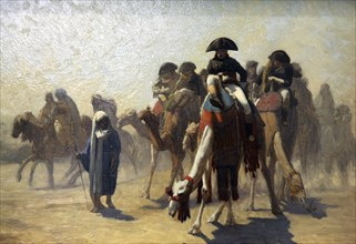 'General Bonaparte with His Military Staff in Egypt', 1863. Artist: Jean-Leon Gerome