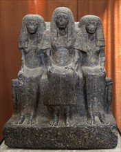 Statue of Amenemheb, Governor of Thebes, with his wife and mother, 14th century BC. Artist: Unknown